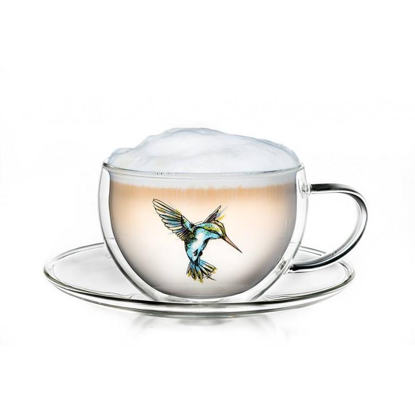 """Термо чаша  с двойни стени  """"Колибри"""""""