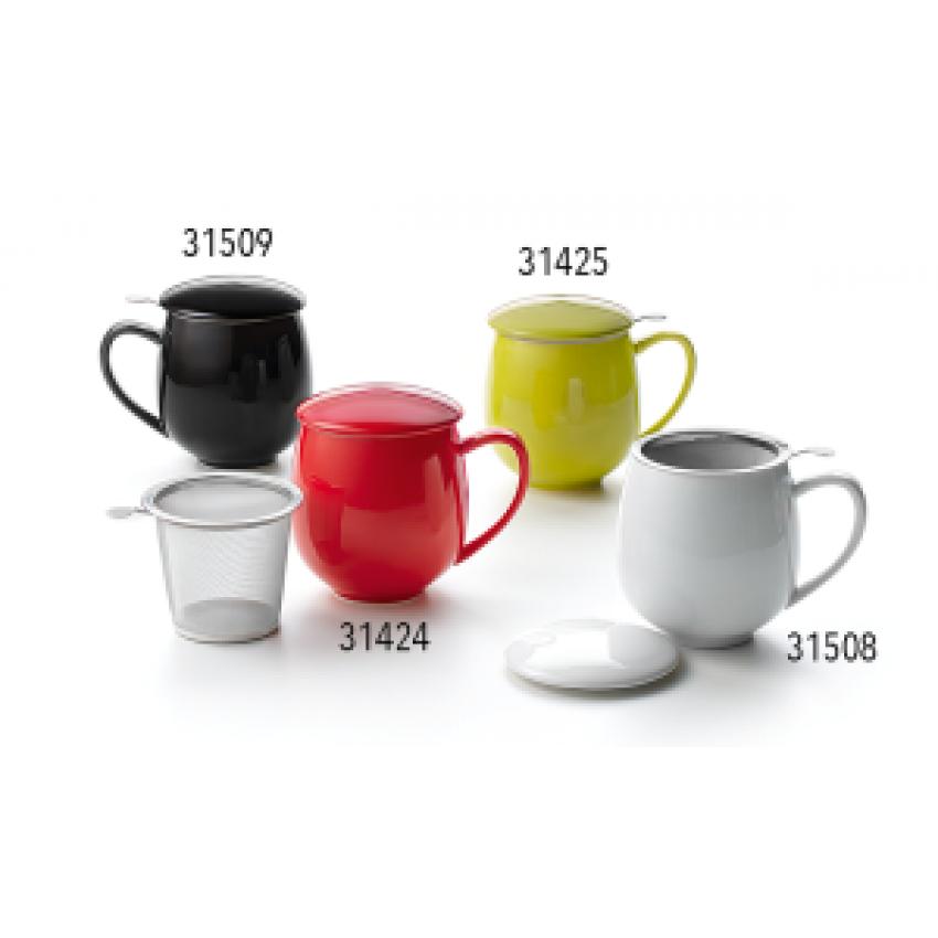 Порцеланова чаша за чай с цедка и капаче!