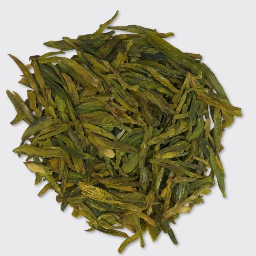 Зелен чай  Long Jing  – Dragonwell  /Драконов кладенец/ Imperial Green - Pre Qing Ming. Цена: 29 лв/50 гр.